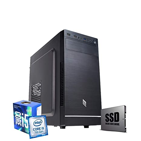 Pc de sobremesa i5 7400 CPU Intel 3.40 GHz en Boost,RAM 8GB Ddr4,SSD 240 GB, + HDD 1 TB,grabadora DVD,Windows 10 Pro PC Fijo Ordenador i5 ...