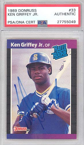 Ken Griffey Jr. Autographed Signed 1989 Donruss Rookie Card #33 Seattle Mariners Vintage Rookie Era Signature - PSA/DNA Certified from Sports Collectibles Online
