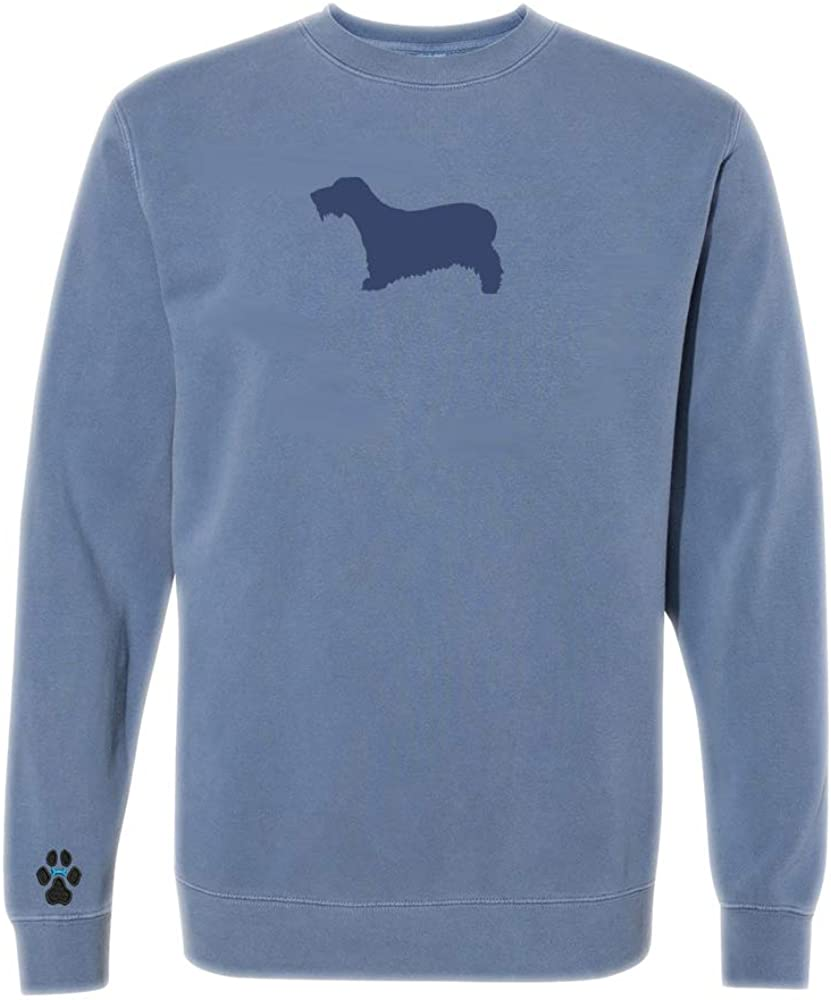 Heavyweight Pigment-Dyed Sweatshirt with/Cesky Terrier Silhouette