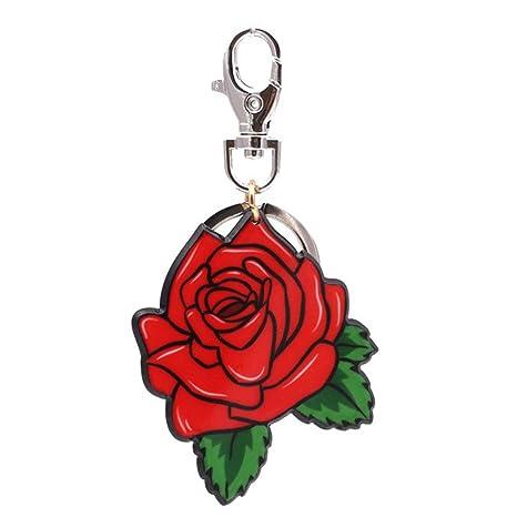 Tonpot Rose - Llavero para Pareja, diseño de Flor de ...