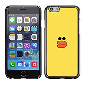 FlareStar Colour Printing Yellow Duck Bath Toy Kids Drawing cáscara Funda Case Caso de plástico para Apple (5.5 inches!!!) iPhone 6 Plus