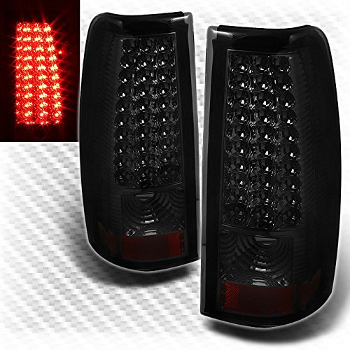 For Smoked 2003-2006 Chevy Silverado 2005-2006 Sierra LED Smk Tail Lights Lamp Set Pair Left+Right/2004 2005