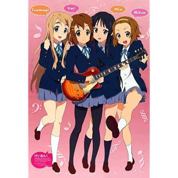 K-ON Life-Size Original Poster Whole Set of 9 The Benefits Of Blu-ray Disc