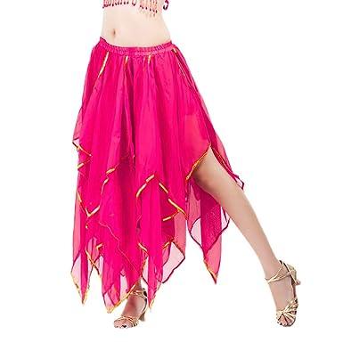 Fuibo - Falda para Danza del Vientre, para Mujer, con Falda de ...