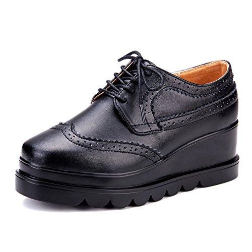 Zapatos de plataforma de primavera/Zapatos de señora Brock correa/Zapatos de fondo plano de aire de Reino Unido A