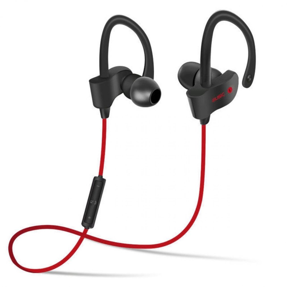 Bluetooth Headphones,XPLUS Bluetooth Earphones with Mic Bass Noise Cancelling, New Trent Bluetooth Sport HD Stereo Headset In-ear Earbuds Earphones with Flexible Ear Hooks (RED) (M5R)