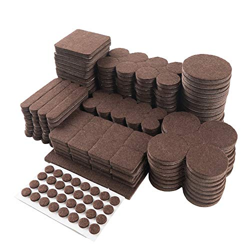 Furniture Pads Felt Pads Pack of 357PCS Furniture Felt Pads, Self Adhesive Anti Scratch Floor Protectors, Used for Hardwood Tile Wood Floor (Brown) STAR SMART