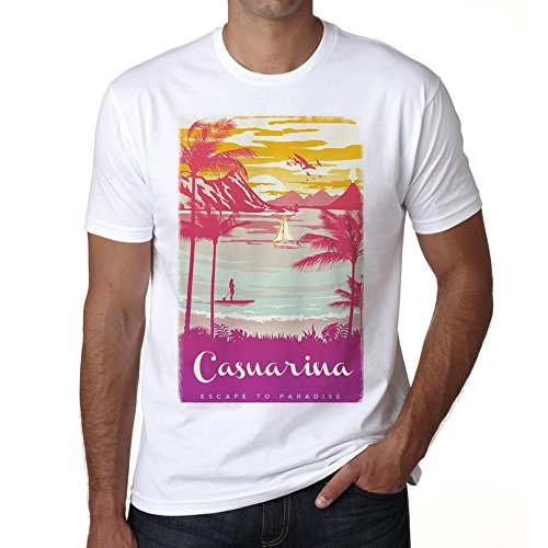 Casuarina, Escape to paradise, tshirt men, beach tshirts, gift - Casuarina Shops