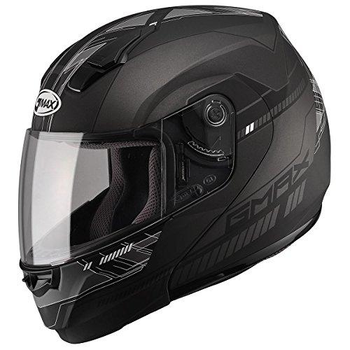 GMAX Unisex-Adult Full-face Style G1041459 TC-21F 04 Modular Street Helmet Black/Dark Silver 3x XXX-Large