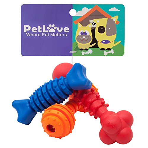 PetLove [Chew Series Interactive Dog Toy Pack for Playing/Chewing – Dog Toys – 3 Packs