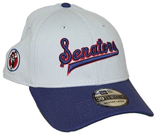 New Era Washington Senators MLB 39THIRTY Cooperstown Classic Flex Fit Gray Hat