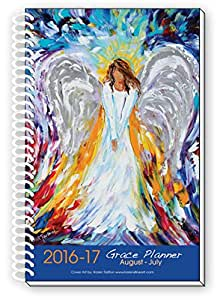 2016-17 Angel Art Inspirational Christian Planner, Daily Weekly Monthly, August 2016 To July 2017, 12 Month Planner, 6x9 Inch
