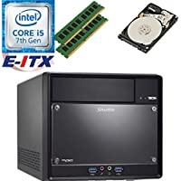 Shuttle SH110R4 Intel Core i5-7400 (Kaby Lake) XPC Cube System , 8GB Dual Channel DDR4, 2TB HDD, DVD RW, WiFi, Bluetooth, Pre-Assembled and Tested by E-ITX