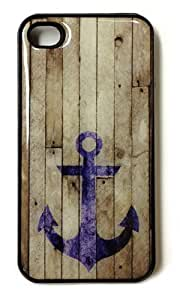 Blue Anchor iPhone 6 Case - Beach Wood Anchor Cover for iPhone 6
