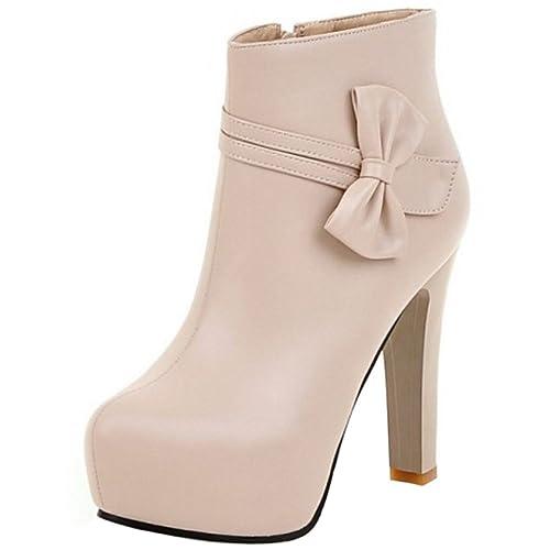 CularAcci Mujer Moda Tacon Alto Tobillo Botas: Amazon.es: Zapatos y complementos