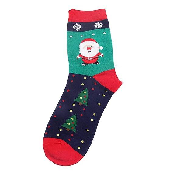 SHOBDW Mujeres Regalo de Navidad Moda Diversión Funky Novedad Niña Calcetines casuales Lindo Unisex Algodón Suave