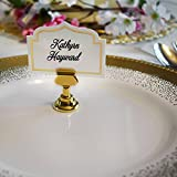 Gray Bunny Place Card Holder, 16pack, Gold, Table