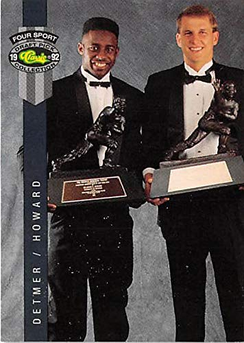 Heisman 1992 Trophy - Desmond Howard and Ty Detmer football card (Michigan Wolverines BYU Cougars College) 1992 Classic Four Sport #313 Heisman Trophy Winners