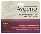Aveeno Anti-Itch Cream, 1% Hydrocortisone, Maximum Strength, 1 Ounce (Pack of 6)