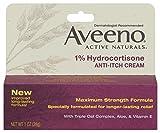 Aveeno Anti-Itch Cream, 1% Hydrocortisone, Maximum Strength, 1 Ounce (Pack of 2)