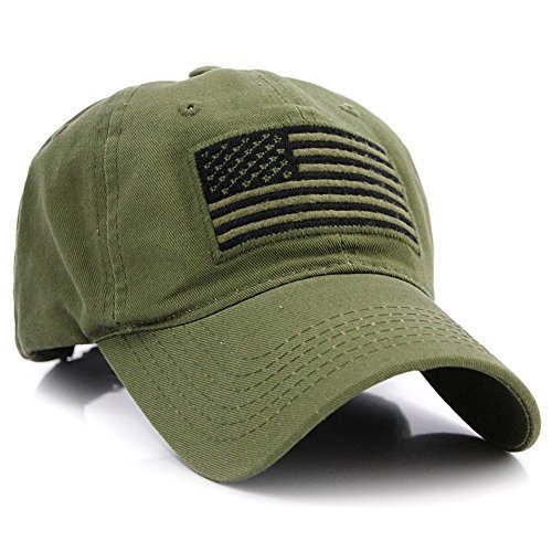 80e787a04cc Pit Bull US Flag Patch Tactical Style Cotton Trucker Baseball Cap Hat Army  Green