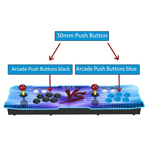 6Pcs 30mm Arcade Push Buttons Black for Sanwa OBSF-30 Jamma Games Parts Games Buttons Arcade Push Button Joystick Video Game Console by YUNDA (Image #5)