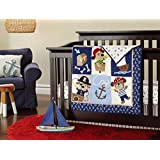 Baby boy 7pcs Baby Boy Caribbean Pirates Crib Bedding Set