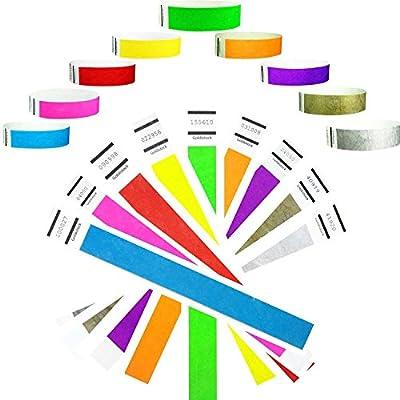 "Goldistock 3/4"" Tyvek Wristbands Super Variety Pack: Green, Blue, Red, Orange, Yellow, Pink, Purple, Gold & Silver"