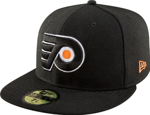 NHL Philadelphia Flyers Basic 59Fifty Cap, Black, 7 1/8