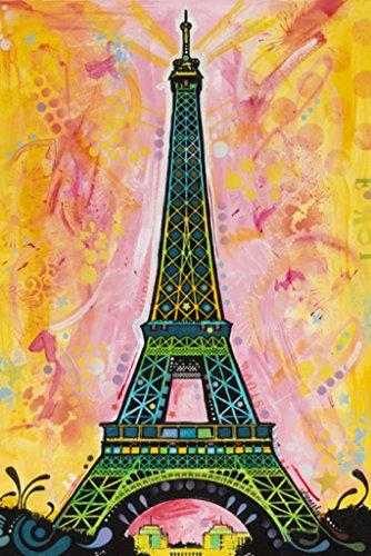Dean Russo Eiffel Tower Pop Art Print Poster 24X36 Inch