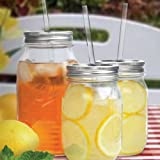 Sipper Drinking Jar, 2-Pack