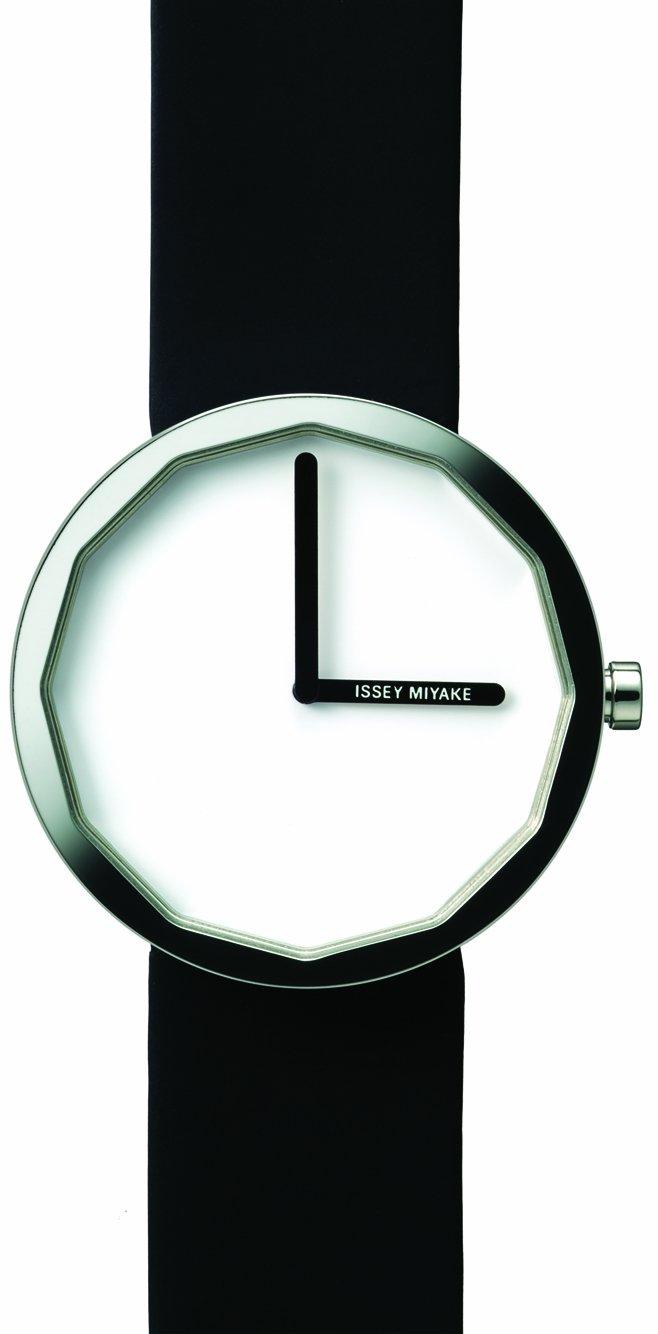 Issey Miyake Unisex Twelve Watch IM-SILAP001 With Black Leather Strap