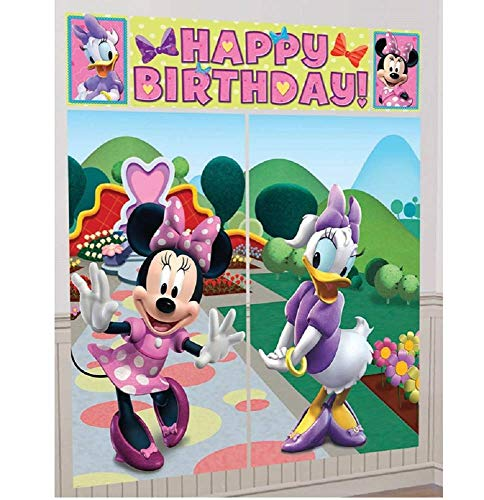 Disney Minnie Mouse Scene Setter Decoration Set Party Accessory ()