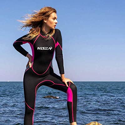 Scubadonkey 2.5 mm Neoprene Wetsuit for Women | Full Body Long Sleeve | for Scuba Diving Surfing Kayaking Swimming