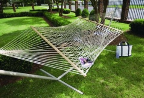 Castaway PC-14PTCW Deluxe Polyester Taupe Rope Hmk by The Hammock Source - Deluxe Polyester Rope Hammock