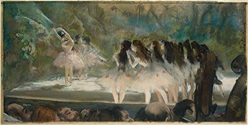 Berkin Arts Edgar Degas Giclee Canvas Print Paintings Poster Reproduction Large Size(Ballet at The Paris OpŽra)