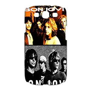 3D Print Hot Hard Rock Band&Bon Jovi Theme Case Cover for Samsung Galaxy S3 I9300- Personalized Hard Cell Phone Back Protective Case Shell-Perfect as gift