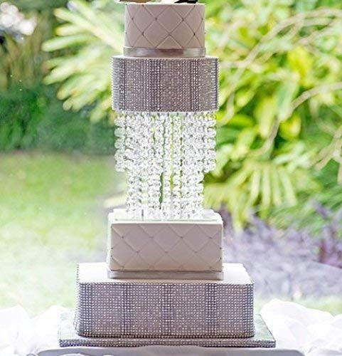 Forbes Favors ™ Blissful Acrylic Crystal Cake Stand with LED Light