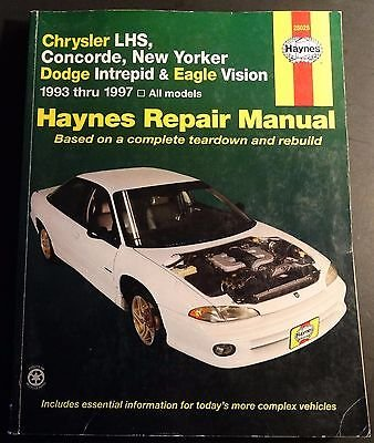 1993-1997 CHRYSLER LHS,CONCORDE, NEW YORKER SERVICE MANUAL NEW 25025 (473)