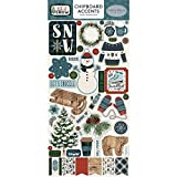 Carta Bella Paper Company Let It Snow 6x12 Accents chipboard, Red, Blue, Navy, Green, White