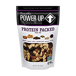 Power Up Trail Mix, Protein Packed Trail Mix, Non-GMO, Vegan, Gluten Free, Keto-Friendly, Paleo-Friendly, No Artificial Ingredients, Gourmet Nut, 14 oz Bag