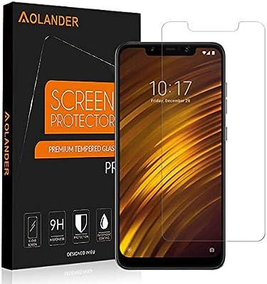 2 Unidades] AOLANDER Xiaomi Pocophone F1 Protector de Pantalla ...