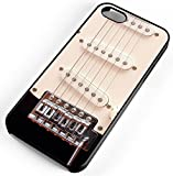 iPhone Case Fits iPhone 8 Electric Guitar Strings Pick Ups Music Loud Amp Energy Black Rubber