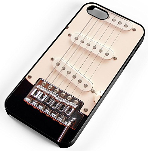 iPhone Case Fits iPhone 8 Electric Guitar Strings Pick Ups Music Loud Amp Energy Black Rubber by TYD Designs