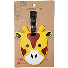 DIYJewelryDepot Yellow Giraffe Luggage Name ID Large Backpack Travel Bag Tag