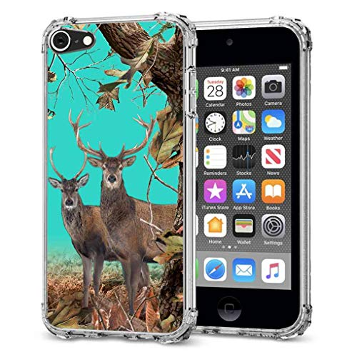 for iPod Touch 7 Camo Case, iPod Touch 6 Camo Case, iPod Touch 5 Camo Case, iPod Touch 2019 Camo Case, BAYKE Slim Flexible TPU Bumper Cushion Protective Case Back Cover with Reinforced Corner (Bunny Case Ipod 4)