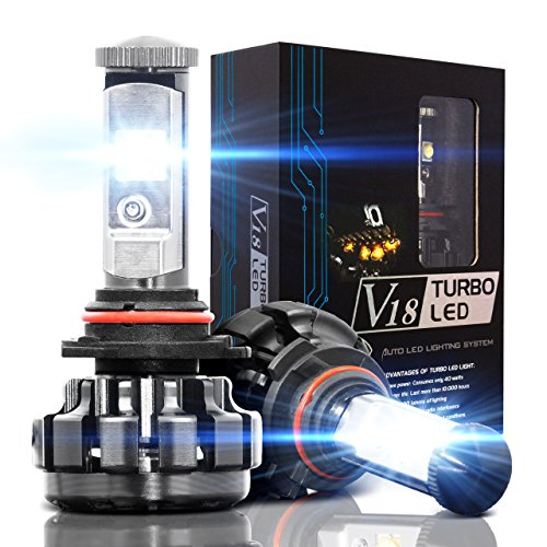 NINEO 9006 LED Headlight Bulbs, HB4 CREE Chips, Cool White Conversion Kit 6000K 7,200Lm - 3 Yr Warranty