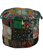 Poef Cover, Zittende Poef Cover, Ottomaanse, Patchwork Bean Bag Stoel Cover, Boho Bohemain Cover