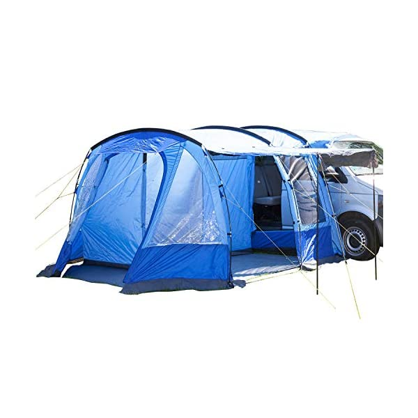 Skandika Aarhus Free-Standing Minivan Awning Travel Tent with Sleeping Cabin and 3000 mm Water Column, Blue, 2 Persons