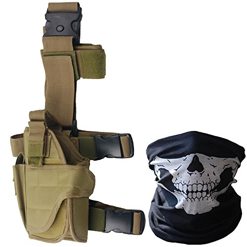 Tactical Leg Holster - Adjustable Pistol Hand Gun Drop Leg Thigh Holster (Hand Tactical Retention Holster)